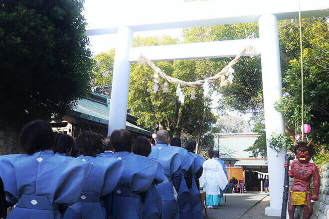 遠州らしさにあふれる、白羽神社の豆まきと節分祭