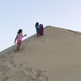 ソリで遊べる浜岡砂丘